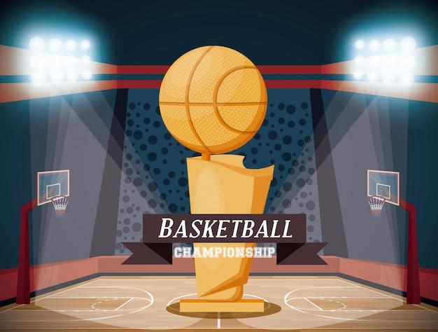 Basketbal sportwedstrijd