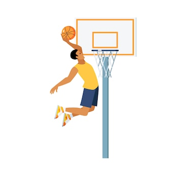 Basketbal springen illustratie