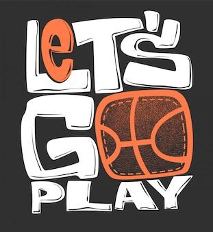 Basketbal t-shirt grafische print, illustratie
