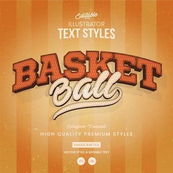 Basketbal tekststijl