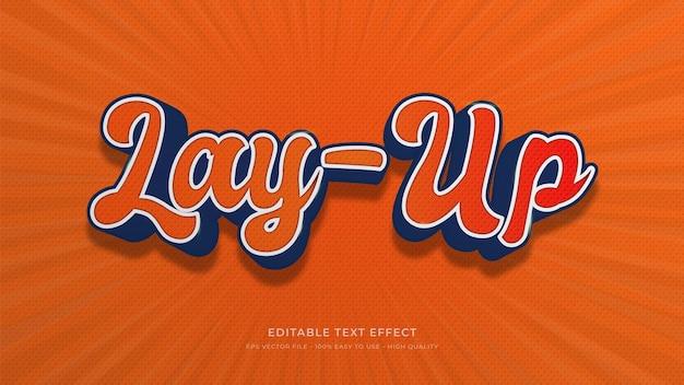 Basketbal typografie bewerkbaar teksteffect