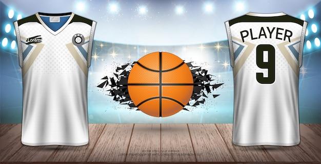 Basketbal uniform en jersey-ontwerp.
