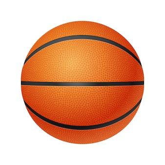 Basketbal, vooraanzicht, geïsoleerd op een witte achtergrond.