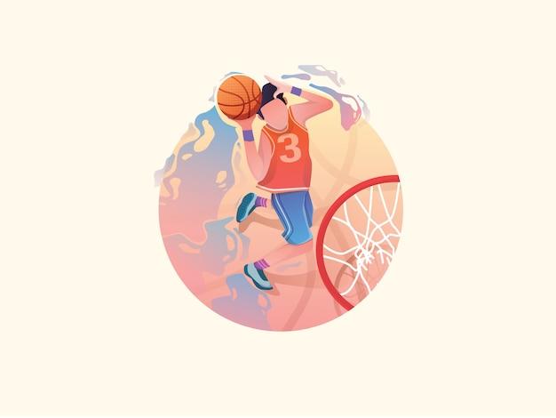Basketbal web vlakke afbeelding