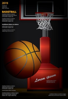 Basketbalaffiche reclame