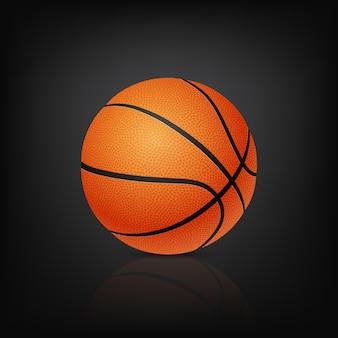 Basketbalbal, op zwarte achtergrond