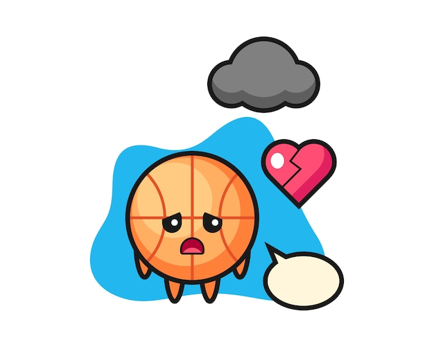Basketbalbeeldverhaal is gebroken hart