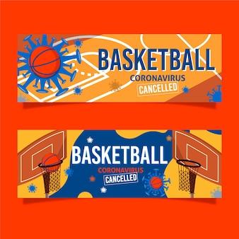 Basketbalevenementen annuleerden banners