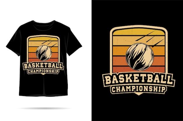 Basketbalkampioenschap silhouet tshirt ontwerp