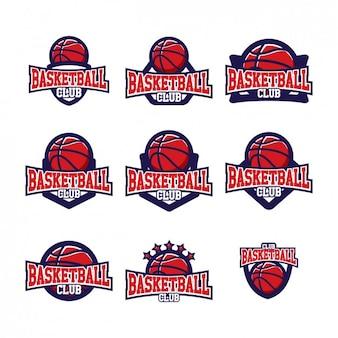 Basketball logo templates ontwerp