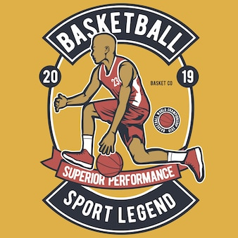 Basketball sport legend