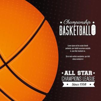 Basketbalontwerp, vectorillustratie.
