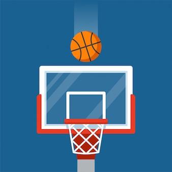 Basketbalring en balillustratie