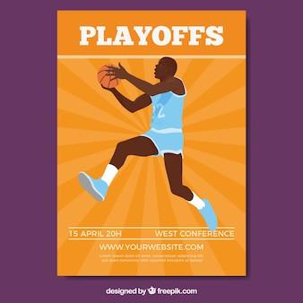 Basketbalspeler brochure