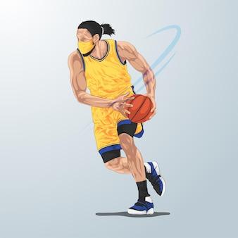 Basketbalspeler vervormd