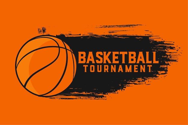 Basketbaltoernooi sport abstract