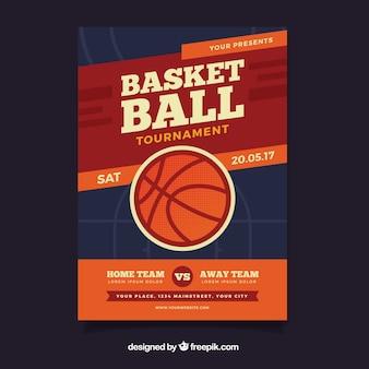 Basketbaltoernooi vintage brochure