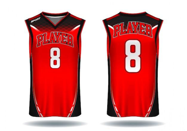 Basketbaltrui, de sportillustratie van de mouwloos onderhemd.