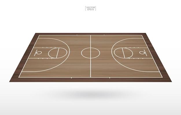 Basketbalveld achtergrond. basketbal veld. vector illustratie.