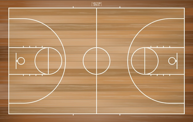 Basketbalveld achtergrond. basketbalveld
