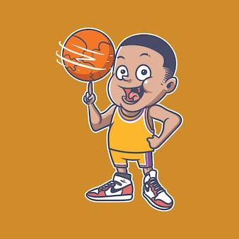 Basketboy illustratie