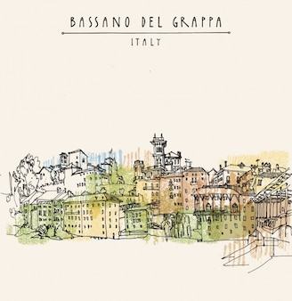 Bassano del grappa achtergrond ontwerp