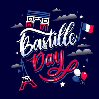 Bastille dag belettering concept