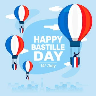 Bastille dag illustratie cocnept