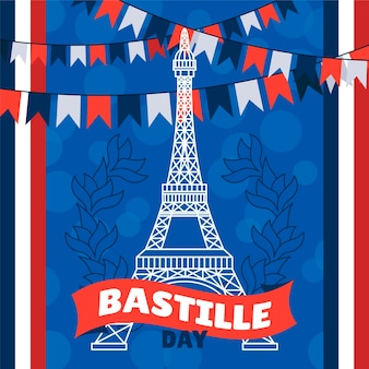 Bastille dag illustratie