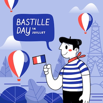 Bastille dag ontwerp