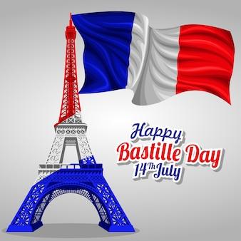 Bastille dag vector sjabloon