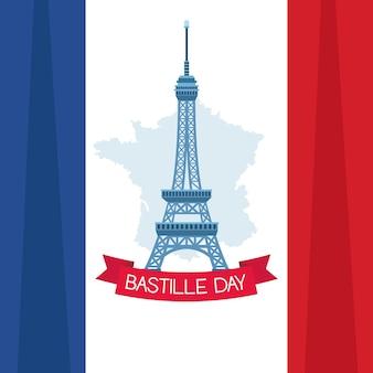 Bastille dagkaart