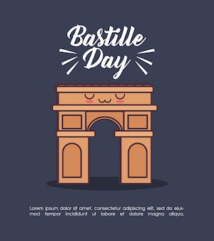Bastille-dagviering met triomfboog