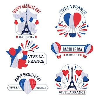Bastille day badge-collectie