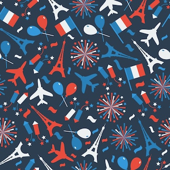 Bastille day, independence day of france, symbolen.