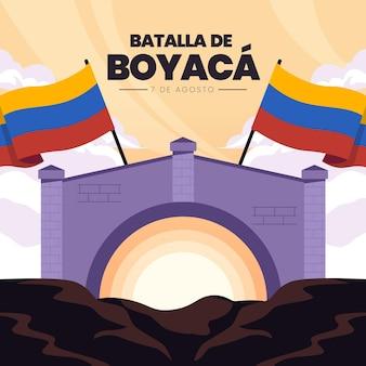Batalla de boyaca-illustratie Gratis Vector