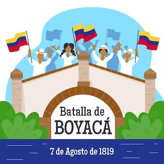Batalla de boyaca-illustratie