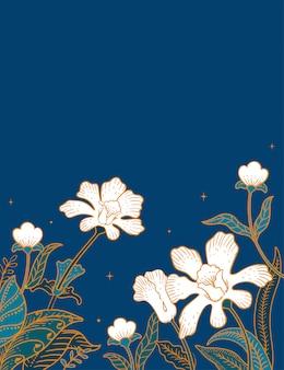 Batik bloem achtergrond