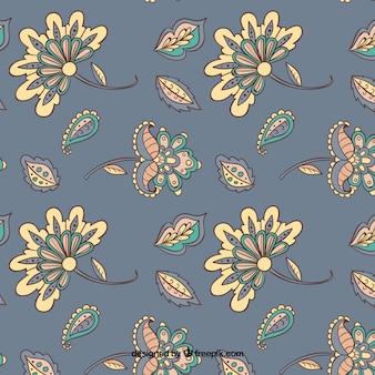 Batik imitatie achtergrond in grijs