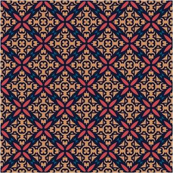 Batik motief patroon achtergrond abstracte stijl