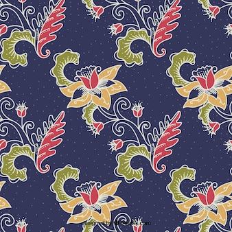 Batik versiering bloem achtergrond