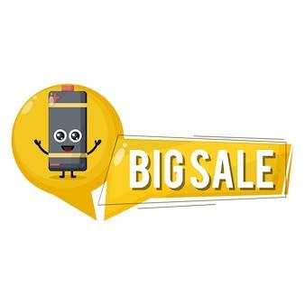 Batterij grote verkoop schattig karakter mascotte