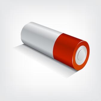 Batterij isometrisch, grafisch concept