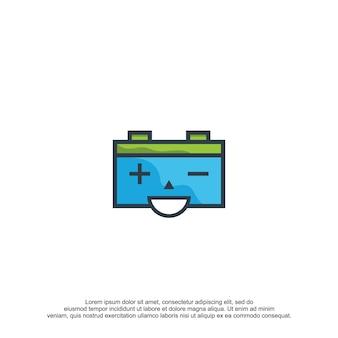 Batterij logo ontwerp vector sjabloon