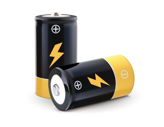Batterij realistische vector 3d illustratie
