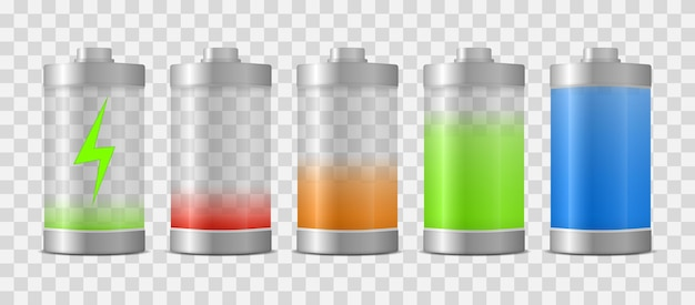 Batterij volledig opgeladen energieniveau. volledige lading energie
