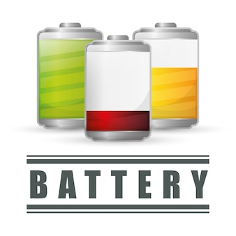 Batterijconcept met pictogramontwerp