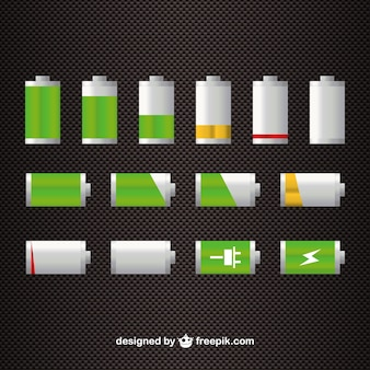 Batterijniveau gratis vector