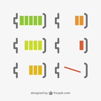 Batterijniveau minimalistisch ontwerp