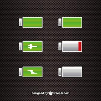 Batterijvermogen vector